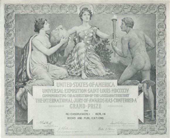 1904 St. Louis Olympic Diploma