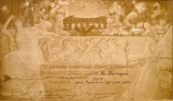 1906 Athens Olympic Diploma