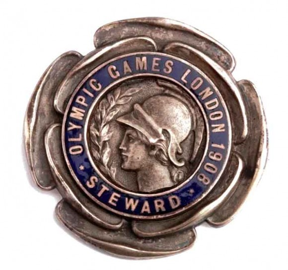 1908 London Olympic Badge