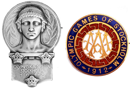 1912 Stockholm Olympic Badge