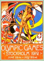 1912 Stockholm Olympic Poster