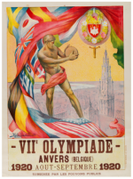 1920 Anvers Olympic Poster