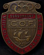 1924 Paris Olympic Badge