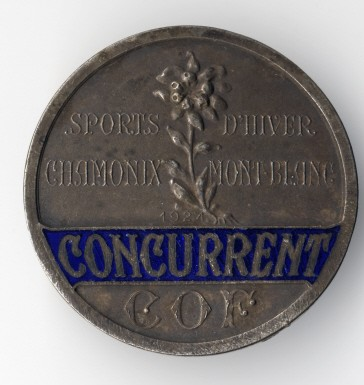 1924 Chamonix Olympic Badge