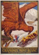 1924 Chamonix Olympic Poster