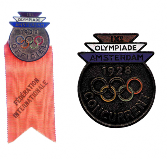 1928 Amsterdam Olympic Badge