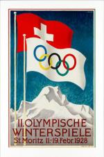 1928 St Moritz Olympic Poster