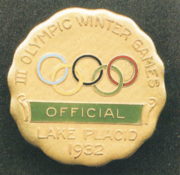 1932 Lake Placid Olympic Badge
