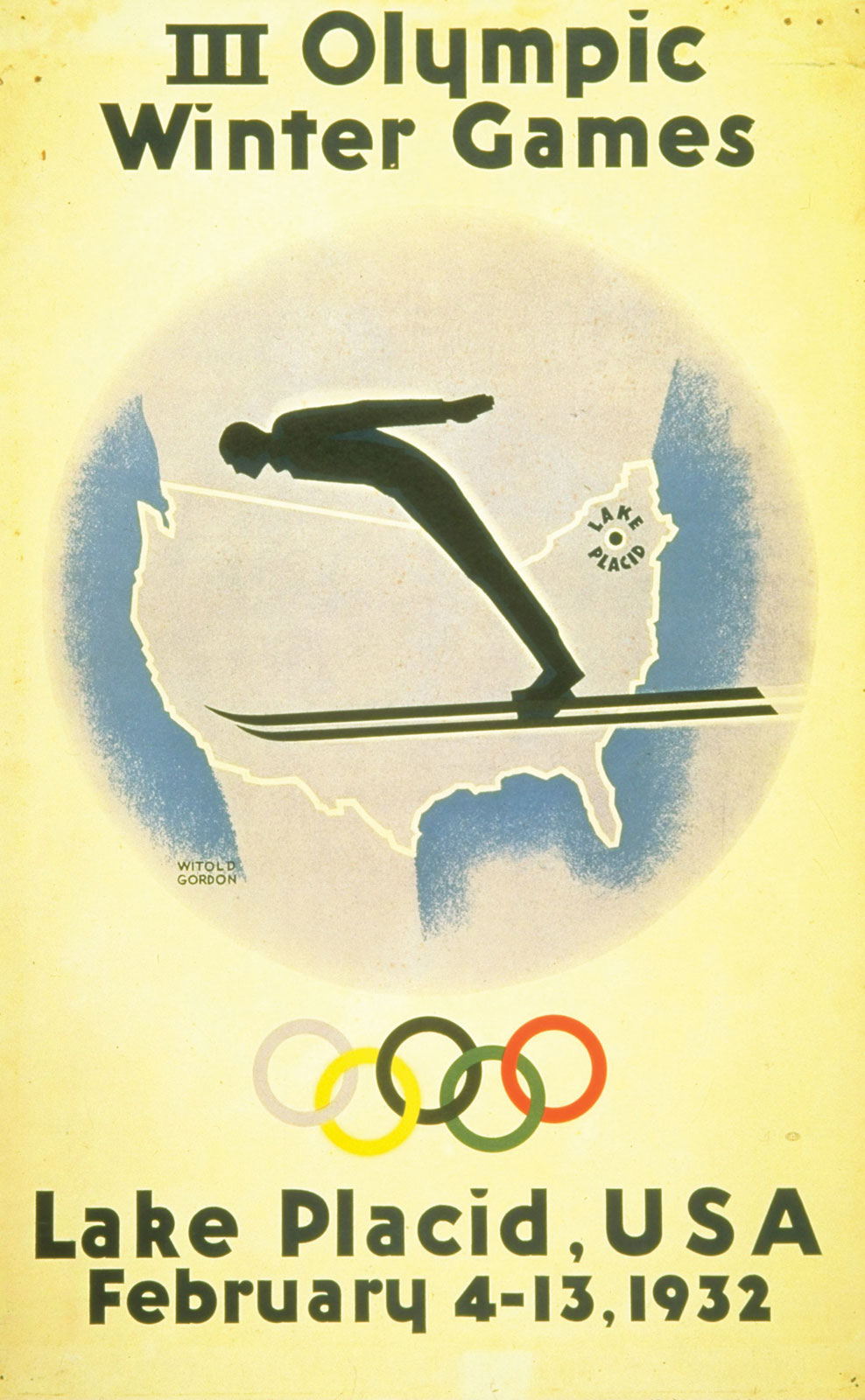 1932 Lake Placid Poster Olympic Collectibles Amp Memorabilia