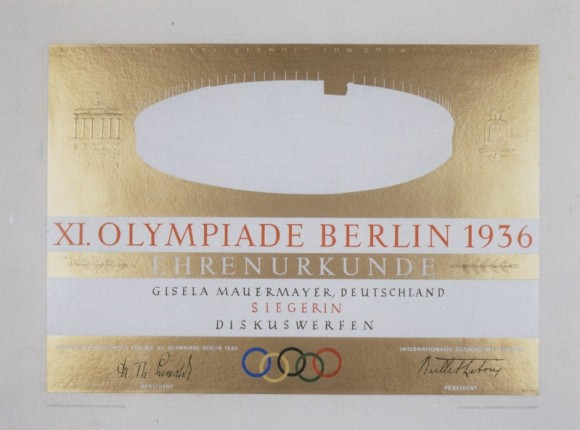 1936 Berlin Olympic Diploma