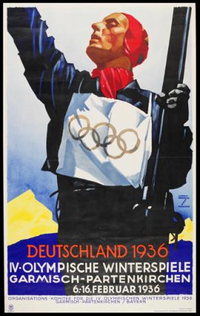 1936 Garmisch Olympic Poster