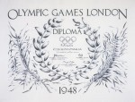 1948 London Olympic Diploma