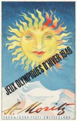 1948 St Moritz Olympic Poster