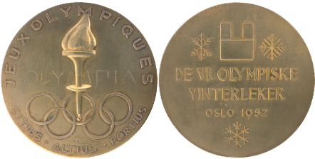 1952 Oslo Winter Winner's Medal, 1952 Oslo Winter Prize Medals