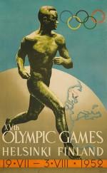 1952 Helsinki Olympic Poster