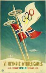 1952 Oslo Olympic Poster