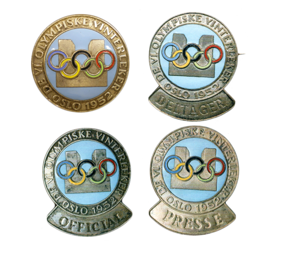 1952 Oslo Olympic Badge