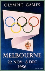 1956 Melbourne Olympic Poster