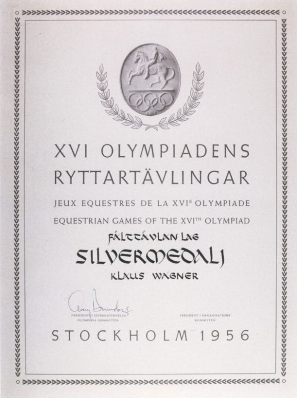 1956 Stockholm Olympic Diploma