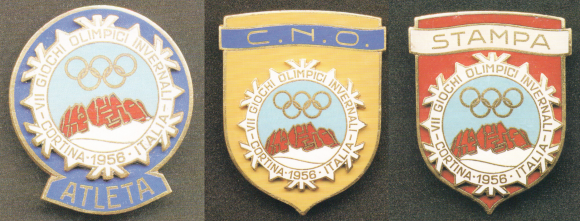 1956 Cortina Olympic Badge