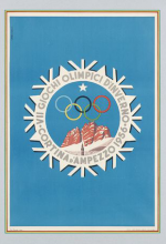 1956 Cortina d'Ampezzo Olympic Poster