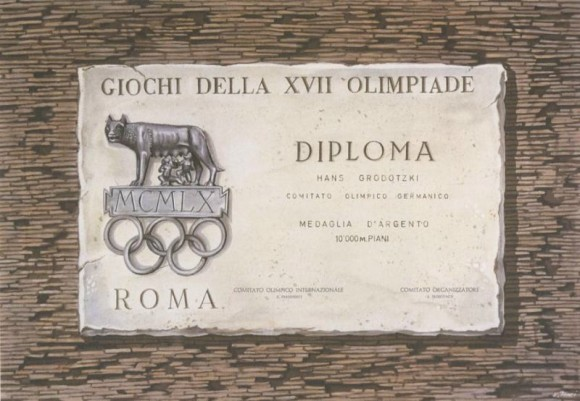 1960 Rome Olympic Diploma