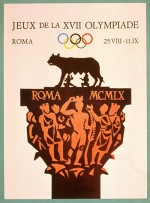 1960 Rome Olympic Poster