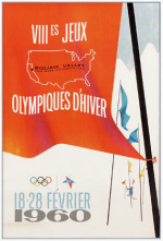 1960 Squaw Valley Olympic Poster
