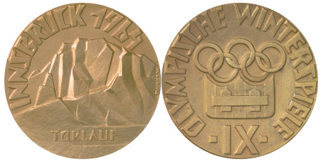 1964 Innsbruck Winter Winner's Medal, 1964 Innsbruck Winter Prize Medals