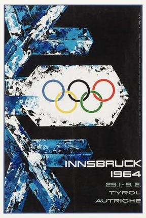 1964 Innsbruck Olympic Poster
