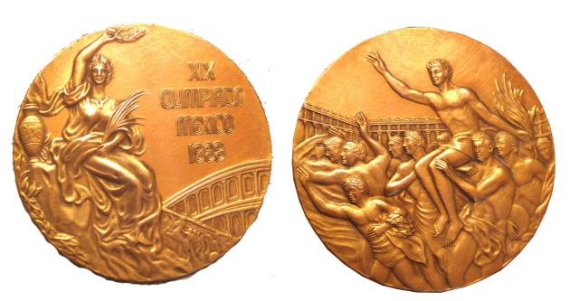 1968 Mexico City Summer Winner's Medal, 1968 Mexico City Summer Prize Medals