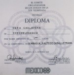1968 Mexico City Olympic Diploma
