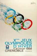 1968 Grenoble Olympic Poster