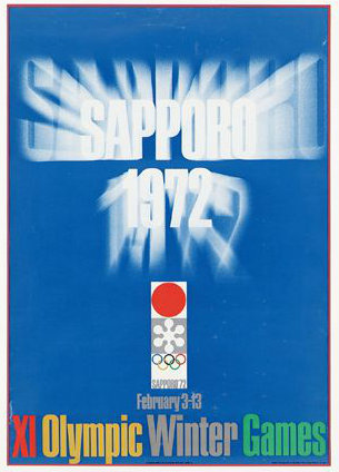 1972 Sapporo Olympic Poster