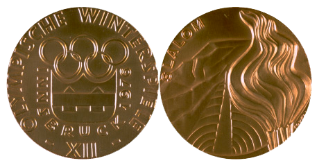 1976 Innsbruck Winter Winner's Medal, 1976 Innsbruck Winter Prize Medals