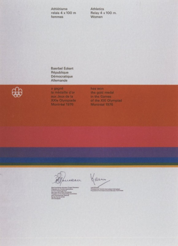 1976 Montreal Olympic Diploma