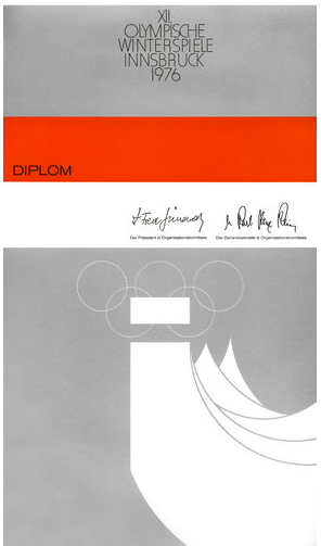 1976 Innsbruck Olympic Diploma