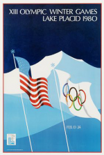 1980 Lake Placid Olympic Poster