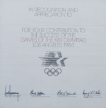 1984 Los Angeles Olympic Diploma