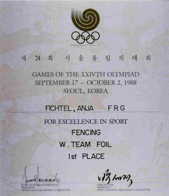 1988 Seoul Olympic Diploma
