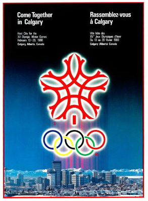 1988 Calgary Olympic Poster