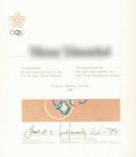 1988 Calgary Olympic Diploma