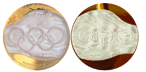 1992 Albertville Winter Winner's Medal, 1992 Albertville Winter Prize Medals