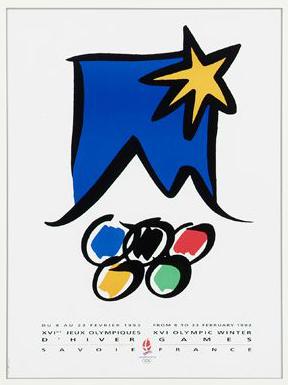 1992 Albertville Olympic Poster