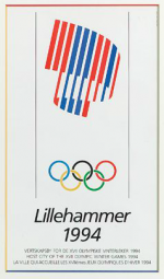 1994 Lillehammer Olympic Poster