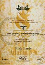 1996 Atlanta Olympic Diploma