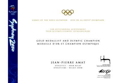 2000 Sydney Olympic Diploma