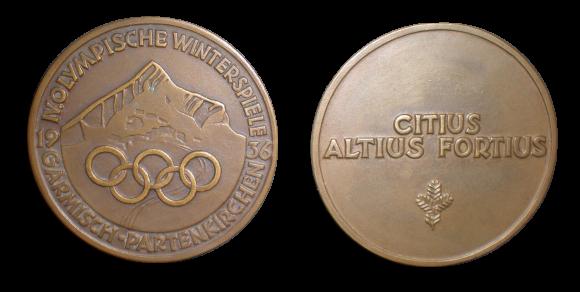 Garmisch Winter Olympics Participation Medal