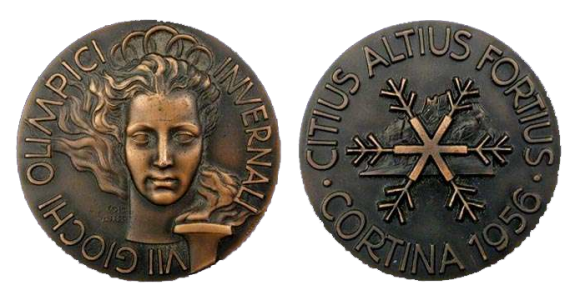 Cortina Winter Olympics Participation Medal
