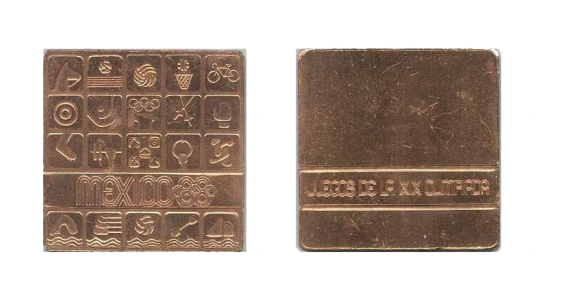 Mexico City Summer Olympics Participation Medal